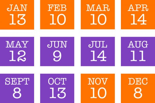 dates 2018